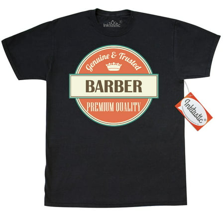 Inktastic Barber Funny Gift Idea T-Shirt Retired Occupations Job Vintage Logo Clothing Apparel Career Mens Adult Tees T-shirts (Best Barber Shop Logos)