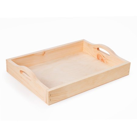 Walnut Hollow Wooden Pine Serving Tray: 11 x 15 inches