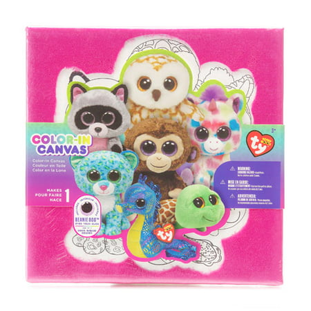 Ty Beanie Boo Canvas Kit Color In W Plush
