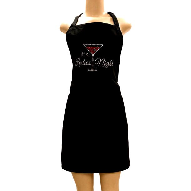 Kaufman Aprons With Rhinestone Designs With Two Pockets And Adjustable Neck Walmart Com Walmart Com