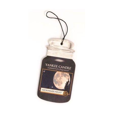 Yankee Candle Car Jar Air Freshener Fragrance-Infused Paperboard MidSummer Night (Yankee Candle Air Freshener Refill)