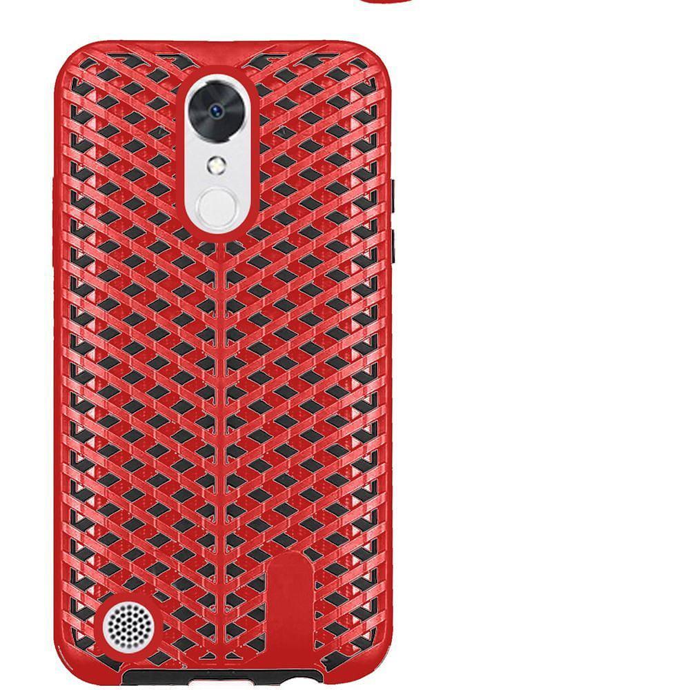 LG K20 Plus case, LG K20 V case, LG V5 case, by Insten ZigZag Design Hybrid Dual Layer Hard PC/Silicone Case Cover For LG K20 Plus / K20 V / V5 - Black - image 2 de 3
