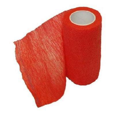 """SyrVet 4"""" Syrflex Cohesive Flexible Bandage Red"""