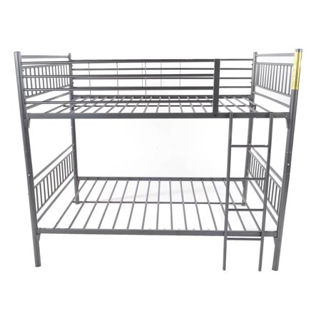 Home Source Henry Full Size Bunk Bed Gray