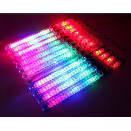 12 Pack of Colorful Flashing LED 7 Modes Light Up Toy Wand Stick for Parties, Events, Functions, Celebrations - Flashing Wand