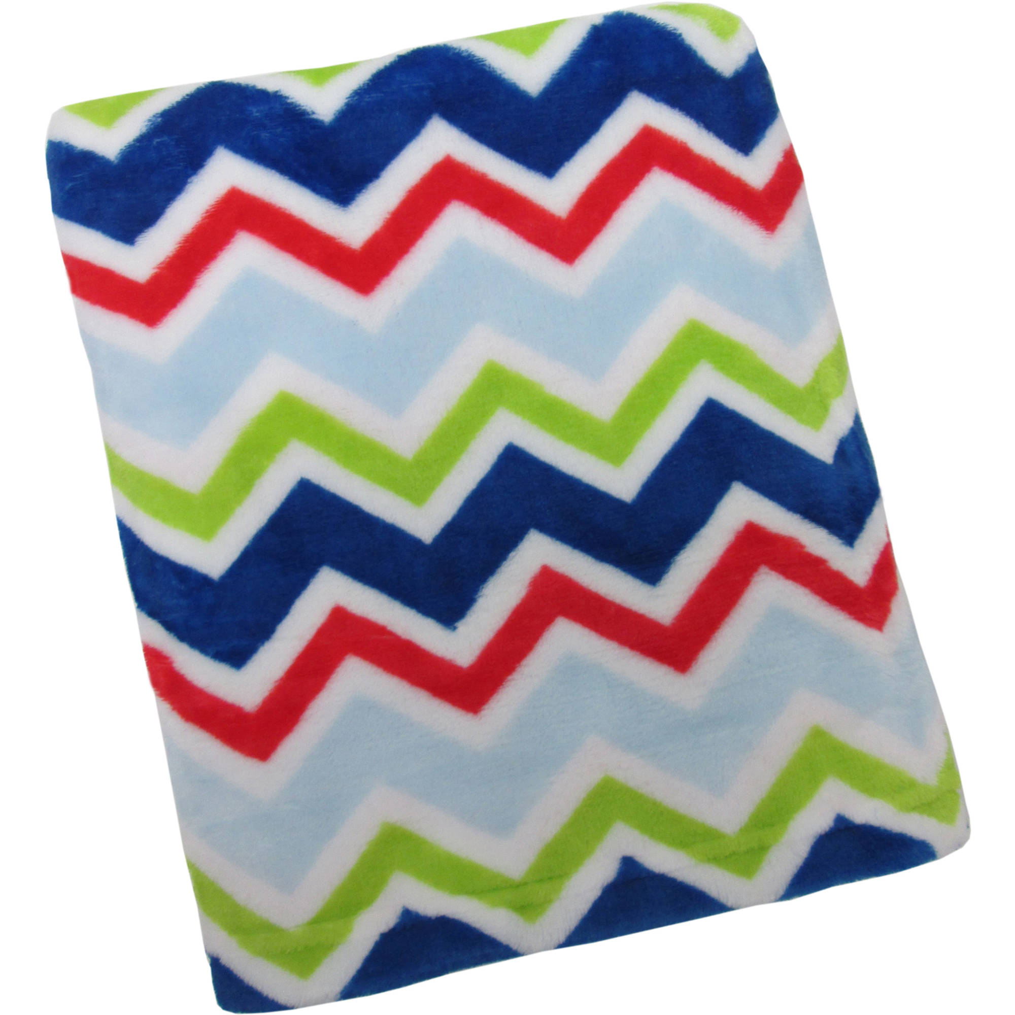 Kimberly Grant Plush Chevron Blanket, Boy