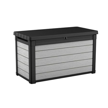 bf5998921dd5 Keter Denali 100 Gallon Deck Box, Plastic Resin Outdoor Storage, Gray and  Black