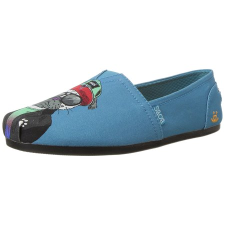 BOBS from Skechers Women's Bobs Plush Outpaws Ballet Flat, Teal, 10 M US