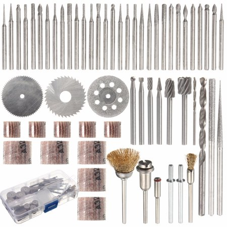 "58Pcs Rotary Tool Accessory Bit Set For  1/8"" Electric Polishing Sanding Polisher Grinding Cleaning Cutting Disc Mixed Set"