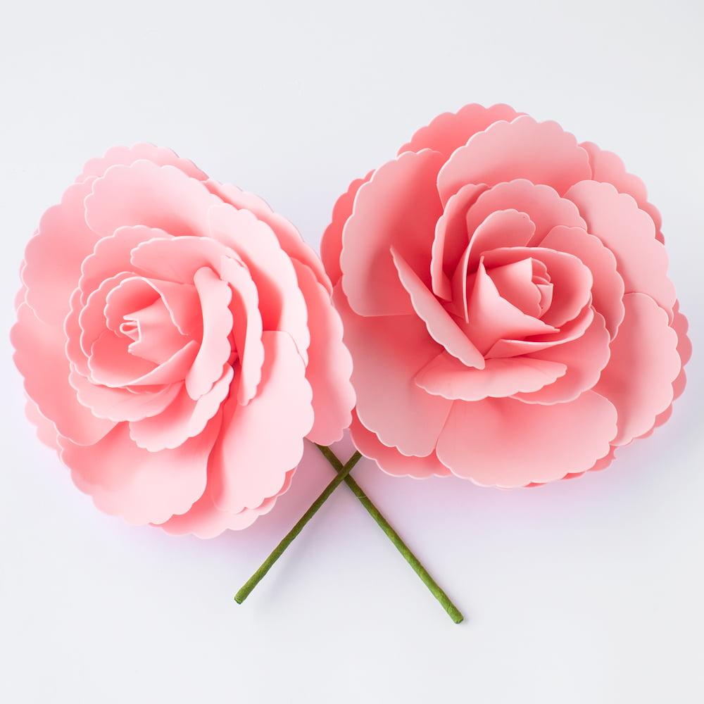 "Large 12"" Blush Tea Rose Foam Flower Backdrop Wall Decor, 3D Premade (2-PACK)"