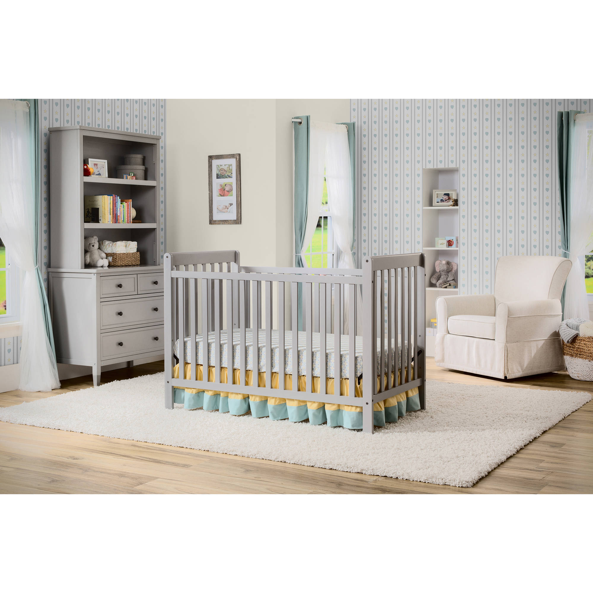 Delta Children's Products Waves 3-in-1 Fixed-Side Crib, (Choose Your Finish)