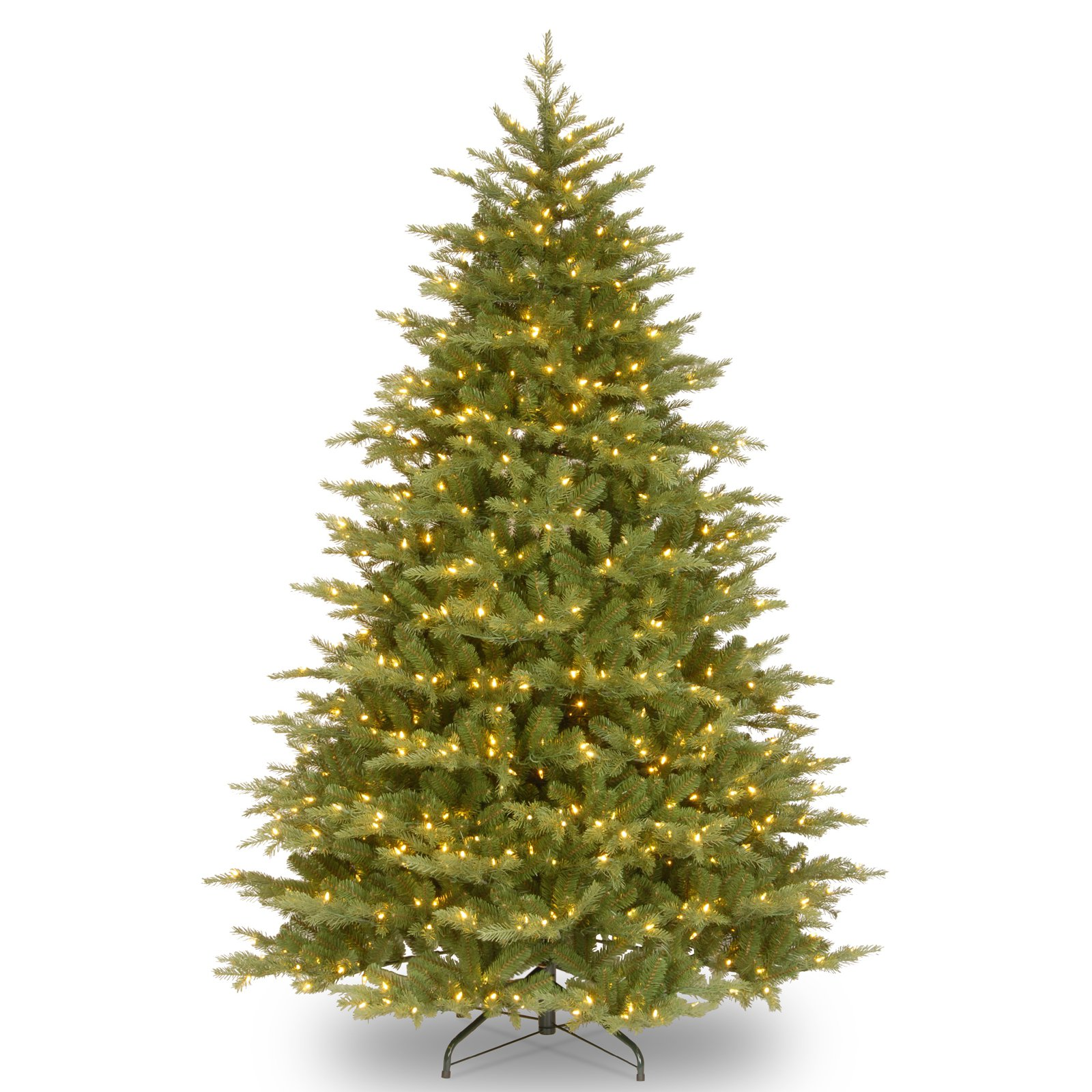 Feel Real Nordic Spruce Medium Hinged Christmas Tree Clear by National Tree