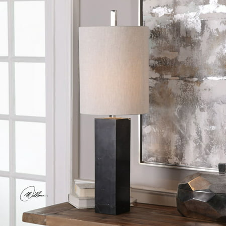 Marble Column Lamp - Uttermost Delaney Marble Column Accent Lamp