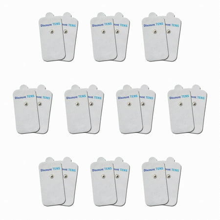 """HiDow Compatible Replacement TENS Electrodes - Premium Quality Electrode Pads for Hi-Dow TENS Units - 10 Pair of Snap TENS Unit Electrodes (20 TENS Unit Pads) - 2"""" X 4"""" - Discount TENS Brand"""