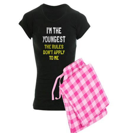 CafePress - I'm The Youngest Rules Don't - Women's Dark Pajamas