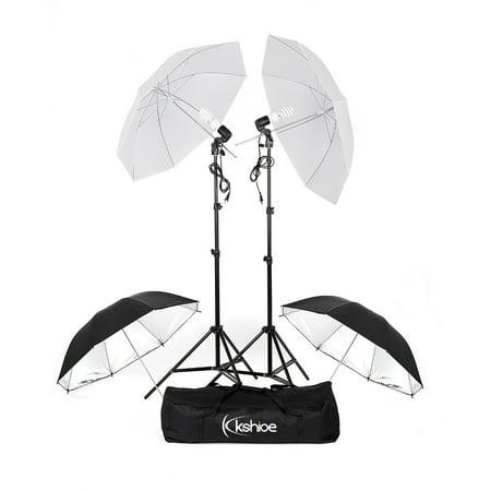 Ktaxon Photography Studio Bulb Lamp Umbrella Light Stand Set Continuous Lighting (Bulb Lamp Stage Studio)