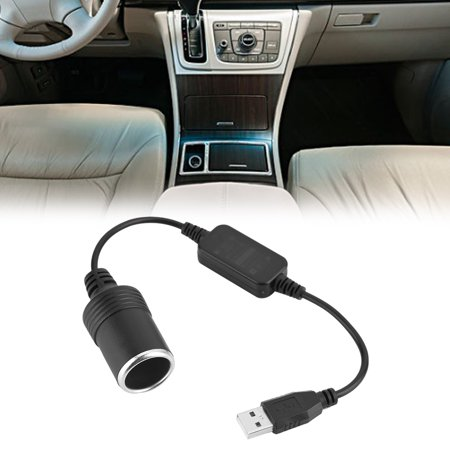 Hilitand USB to 12V Car Cigarette Lighter Socket, Car Cigarette Lighter Socket Converter,USB Port to 12V Car Cigarette Lighter Socket Female Converter Adapter Cord ()