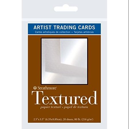 Strathmore Artist Trading Cards 2 1/2 in. x 3 1/2 in. 400 series Textured Pack 20 cards
