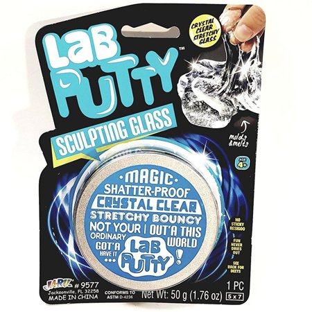 - Lab Putty Magic Sculpting Glass Shatter Proof Crystal Clear Stretchy Bouncy Large 50g Putty 1.76oz Goop