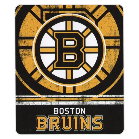 NHL Vintage Fade Team Logo Fleece Throw Blanket Boston Bruins 40 New Team Throw Blankets
