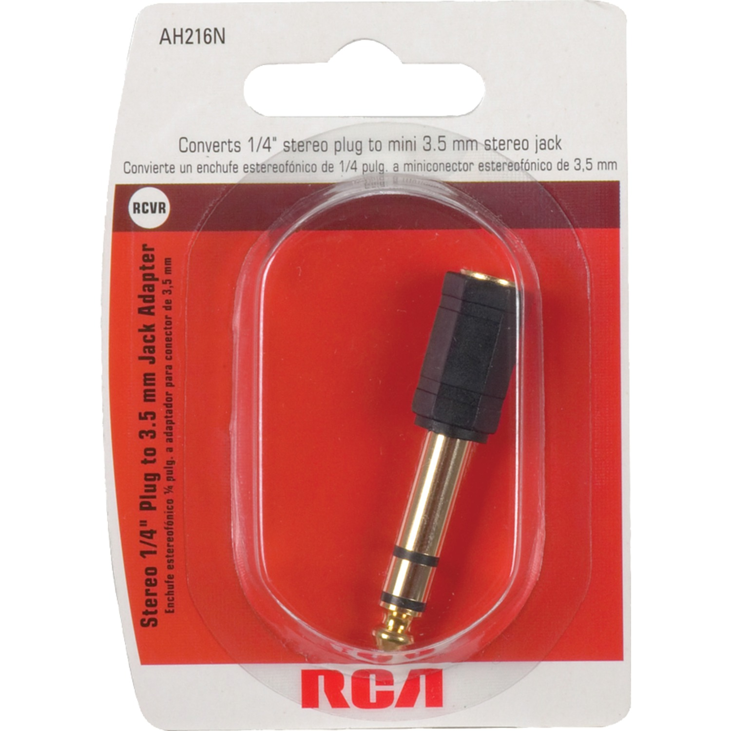 Rca Ah216r 35mm Jack To 1 4 Plug Adapter 14 Stereo Wiring