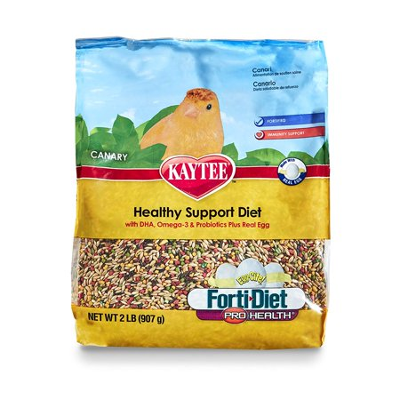 Bird Egg - Forti Diet Egg-Cite Bird Food for Canaries, 2-Pound Bag, Real egg provides high quality protein, essential nutrients and fatty acids By Kaytee