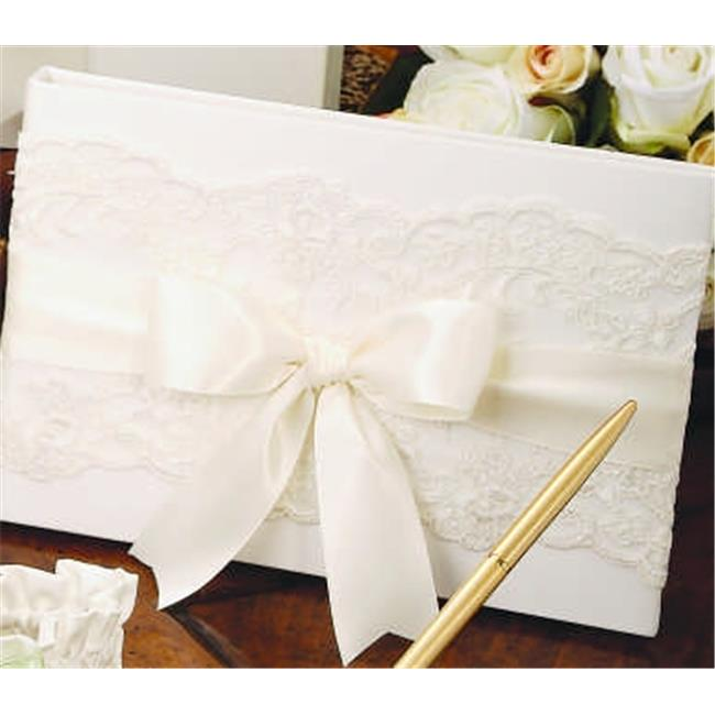 Beverly Clark 223A Chantilly Lace Guest Book in White