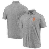 Men's Majestic Gray New York Mets Standard Bearer Polo