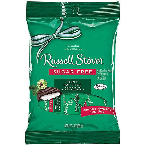 Russell Stover Sugar Free Mint Patties, 3.0 OZ