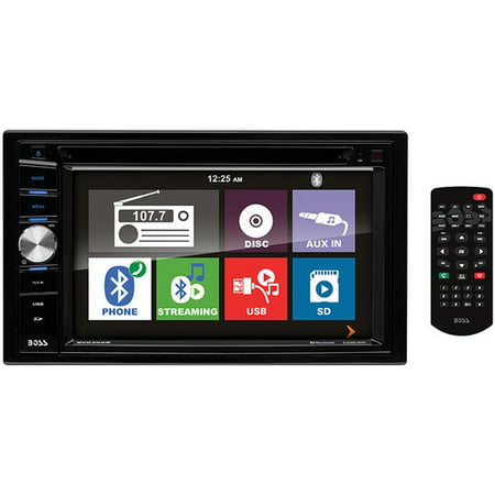 Boss Audio BV9366B Double DIN DVD/CD/USB/SD Player 6.2