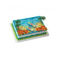 Product Image Wal Mart Bakery Summer Flip Flops DecoSet