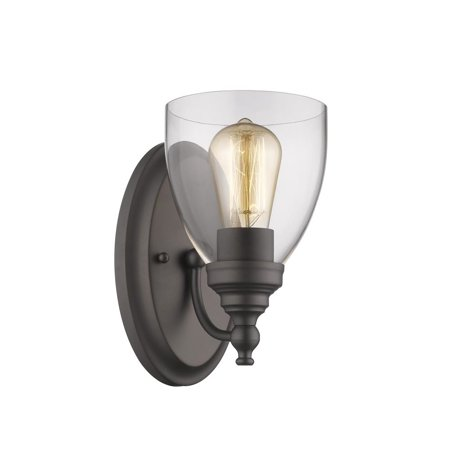 Chloe Lighting Elissa Transitional 1 Light Rubbed Bronze Indoor Wall Sconce 6 Wide