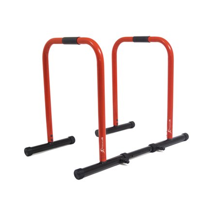 ProsourceFit Dip Stand Station, Heavy Duty Ultimate Body Press Bar with Safety Connector for Tricep Dips, Pull-Ups, Push-Ups, L-Sits,(3 colors