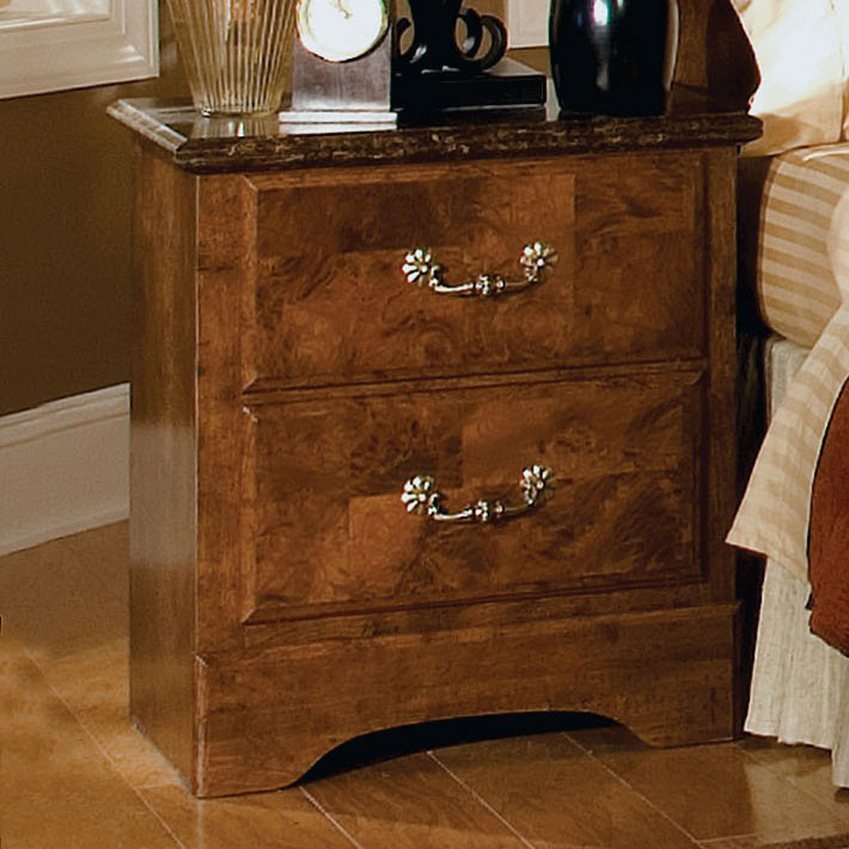 Standard Furniture San Miguel 19 Inch Nightstand in Lafayette Oak