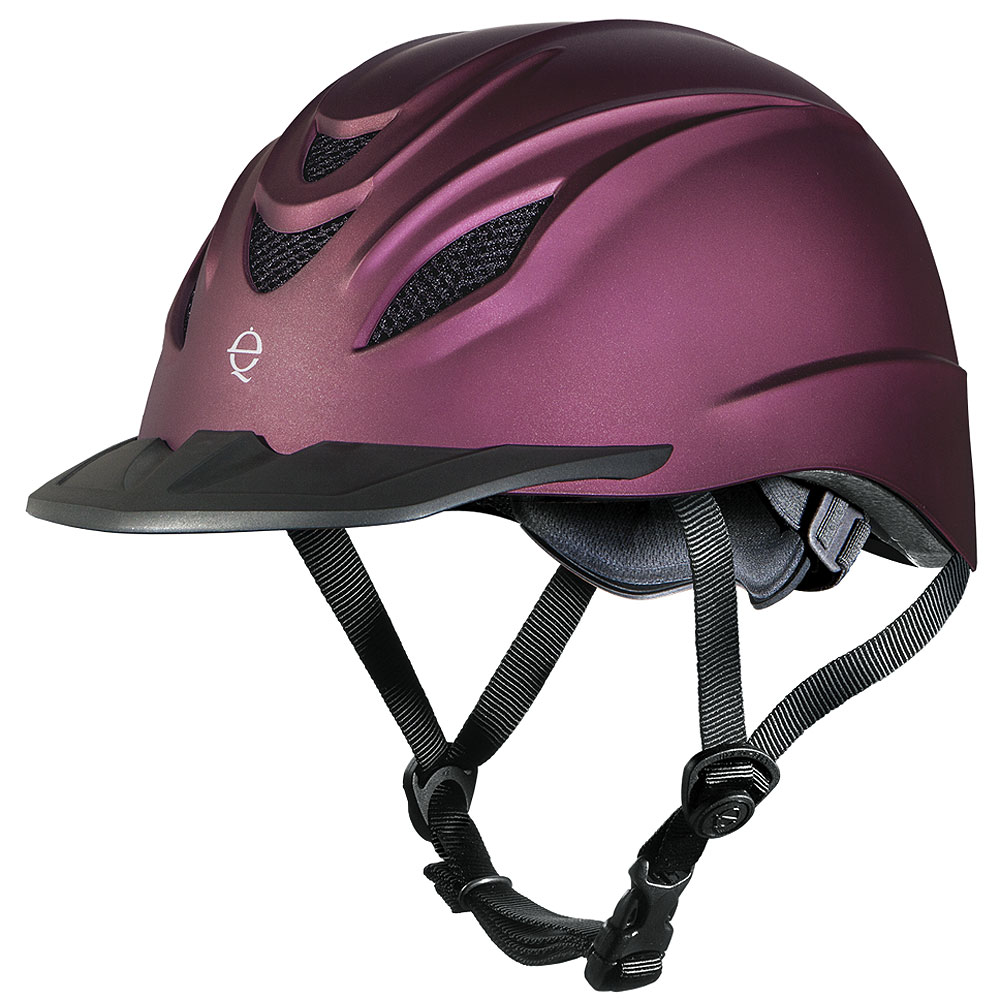 LARGE TROXEL INTRPID DURATEC FINISH LOW PROFILE HORSE RIDING HELMET MULBERRY