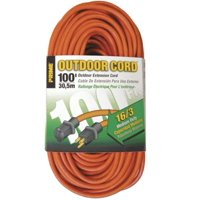 Prime Wire & Cable 3504446 Sjtw Outdoor Extension Cord, 100', Orange