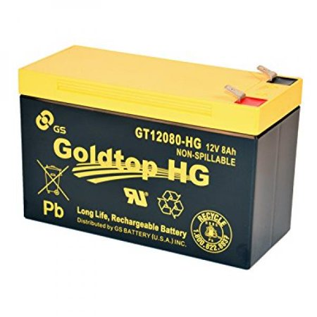 Gs Battery   Gt12080 Hg   Premium Replacement For Px12072 For For At  Centurylink And Most Other Ftth Systems