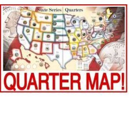 Us State Quarters Collector Map Album Walmartcom - Us map poster walmart