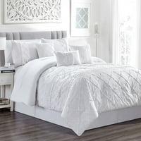 7 Piece Harmony White Comforter Set