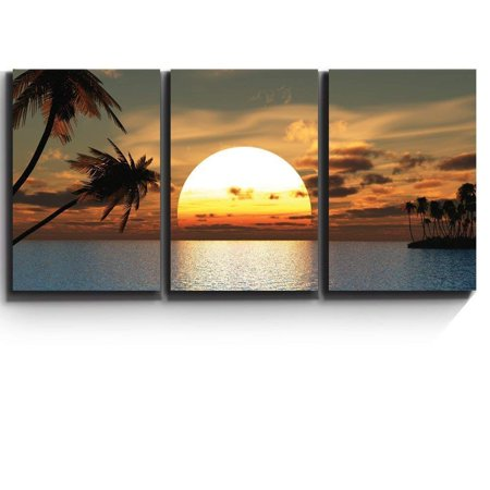 wall26 -Tropical Sunset Endless Summer - Canvas Art Wall Decor - 24x36x3 (Tropical Sunset Pictures)