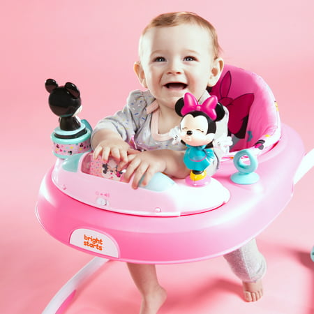 Bright Starts Disney Baby Minnie Mouse Baby Walker with Activity Station - Stars & Smiles