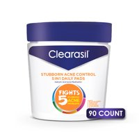 Clearasil Salicylic Acid Stubborn Acne Control Pads, 90 count