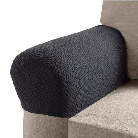 Madison MASON-AC-CHL Mason Stretch Armrest Covers, Charcoal, Charcoal ()