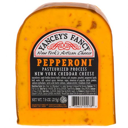 Fun Flavored Cheddars by Yancey's Fancy - Pepperoni Cheddar (7.6 ounce)