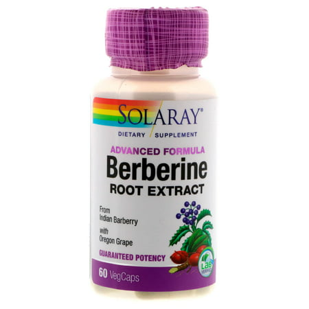 Solaray Advanced Formula Berberine Root Extract Capsules, 60 Ct