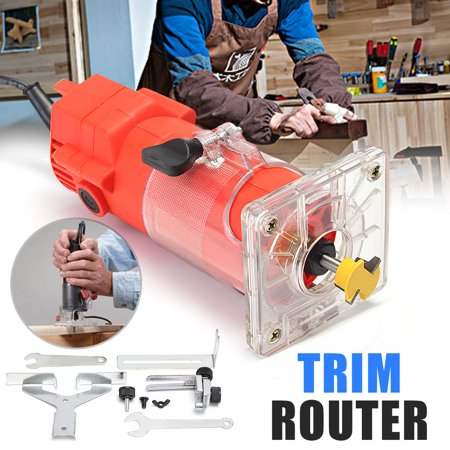 220V 300W Electric Hand Trimmer Router Edge Wood Laminate 30000RPM 1/4inch 6.35mm Palm Router Joiners Tool Woodworking