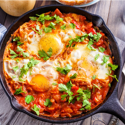 Moroccan Shakshuka (Moroccan Baked Eggs) Meal Kit by Takeout Kit, Dinner for 4