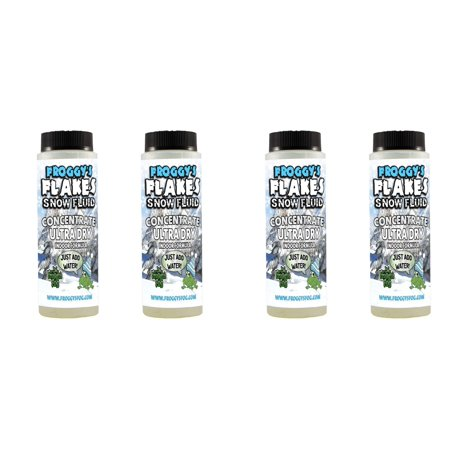 ULTRA DRY Snow Juice Concentrate (Makes 4 Gallon) - (30-50 Feet Float / Drop) - 4 x 8 oz. Bottles (Machine To Make A Juice)