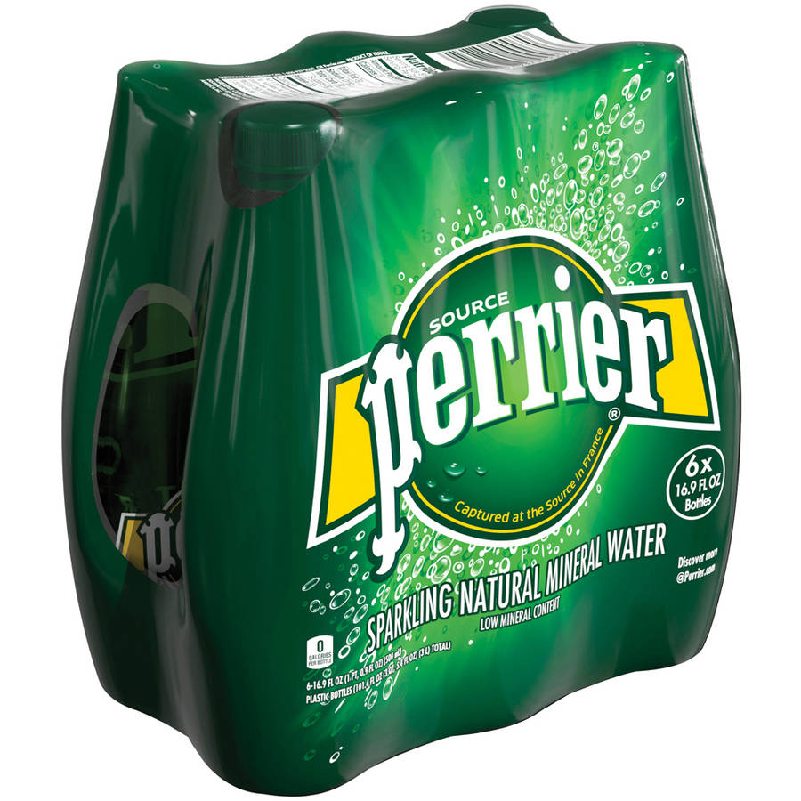 Perrier Sparkling Natural Mineral Water, 16.9 fl oz, 6 pack