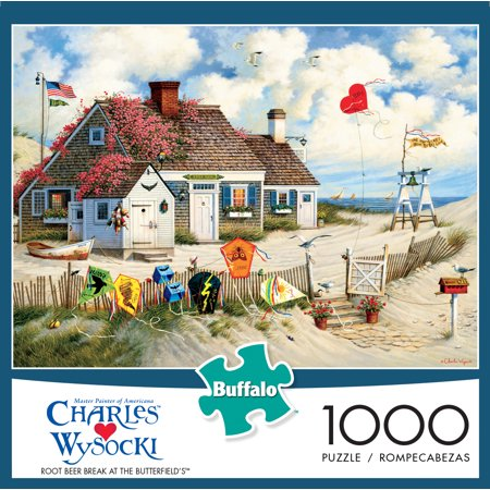 Buffalo Games Charles Wysocki Root Beer Break at the Butterfields Puzzle, 1000 Piece